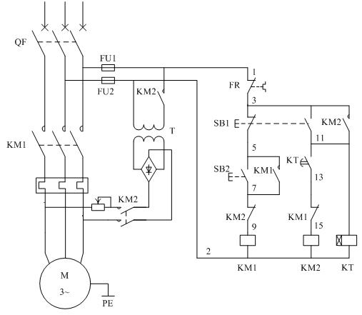 三相电机制动电路图 接线图