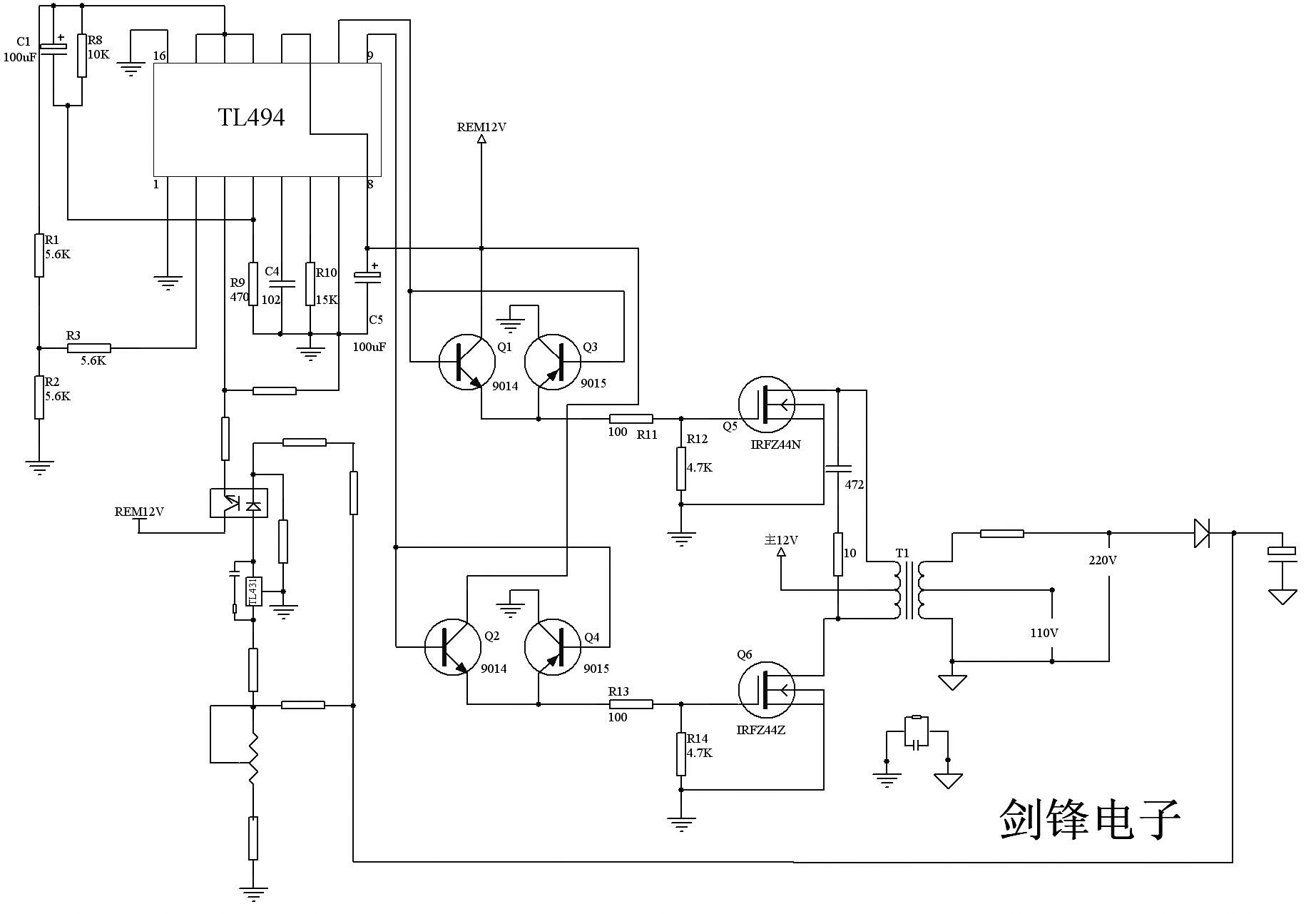 irfz44n电路图