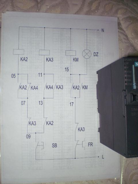 求教:单按钮启停电路(继电器)