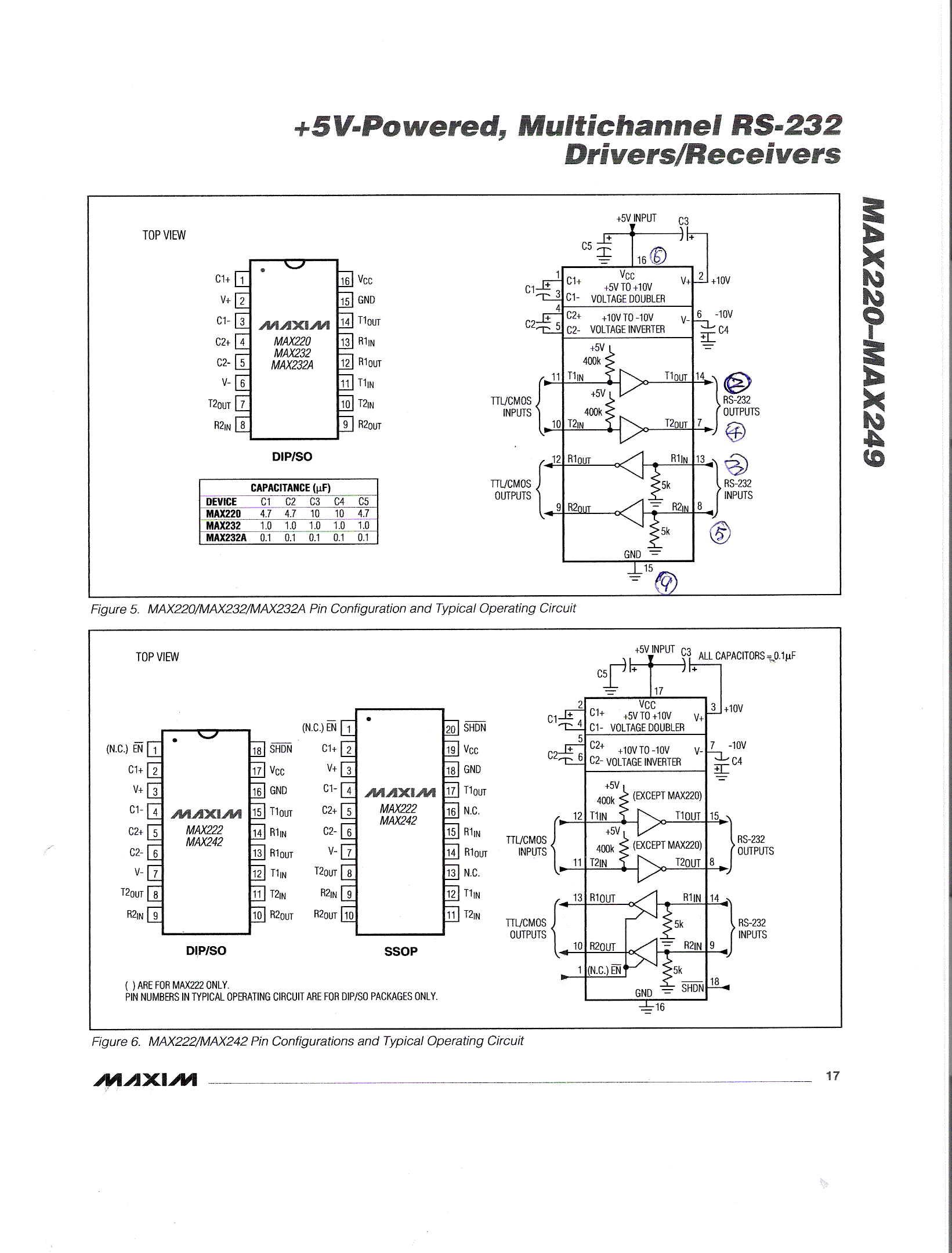 这是max232转换电平通讯的电路
