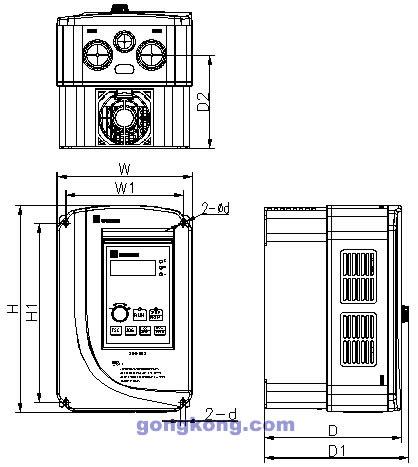 SINE009-7R5以下規格尺寸