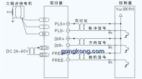 三相电机交叉接线图