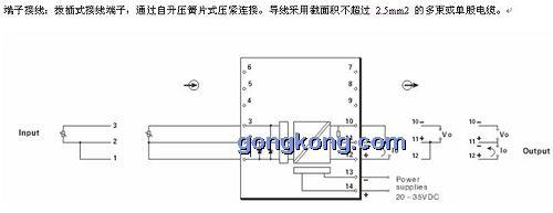 ● 输入回路  输入通道: 端子 1, 2,3 接热电阻 (参见端子接线图)