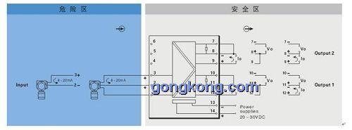 重庆宇通 tm 5043现场电源信号输入隔离式安全栅(一入