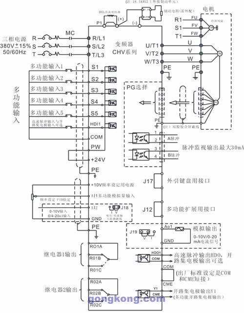 英威腾 chv100-0r7g-2 高性能矢量变频器