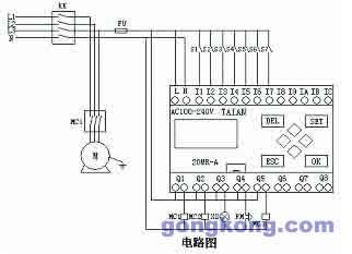 电磁阀与plc实物接线图-台安GENIE在液压机械上的应用