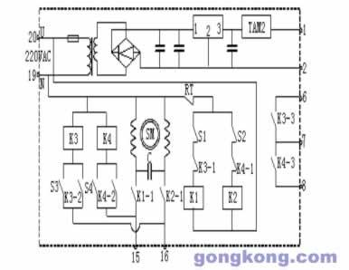 圖二:電動機構執行原理圖