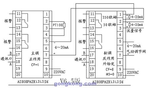 对精馏塔蒸发温度起粗调作用,因此采用比例,微分ai调节器(pd );而主