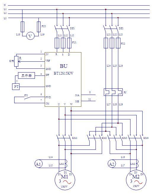 恒压供水主电路原理图