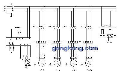 参照xjid3型精密带刀片皮机系统结构提出的电气自动化要求,主电路原理
